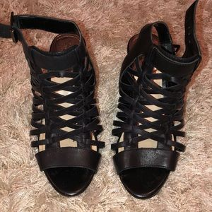 Black Vince Camuto Cage Heels